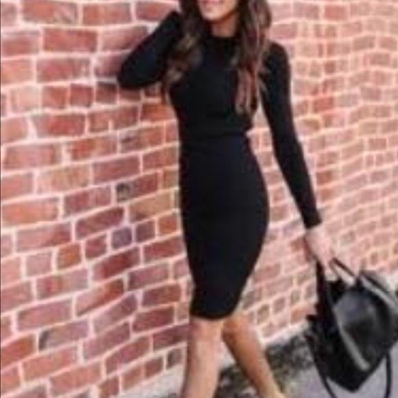 VICI dolls Black ribbed knit  dress. S NWOT